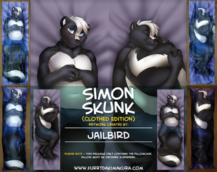 Simon the Skunk Dakimakura