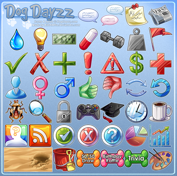 DogDayss: Icons and Buttons