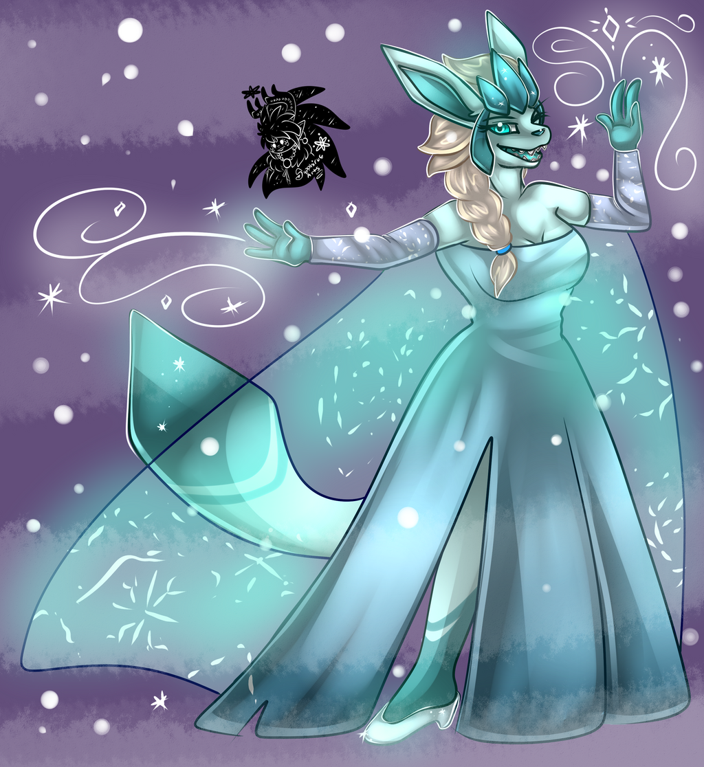 Glaceon Elsa +Full Shaded Commission+