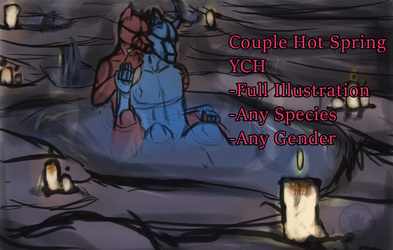 Hot Spring Couple YCH-CLOSED