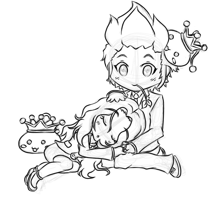 MS2: RoseCrayon + TealCrayon -Sketch-