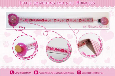 Lil something for a lil Princess (Pacifier Ribbon Clip)