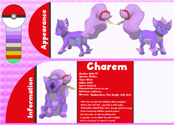Charem the Shadox: Sugimori-Style Ref (SFW) - by Achromatic