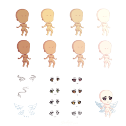 Wings and Horns Doll Set
