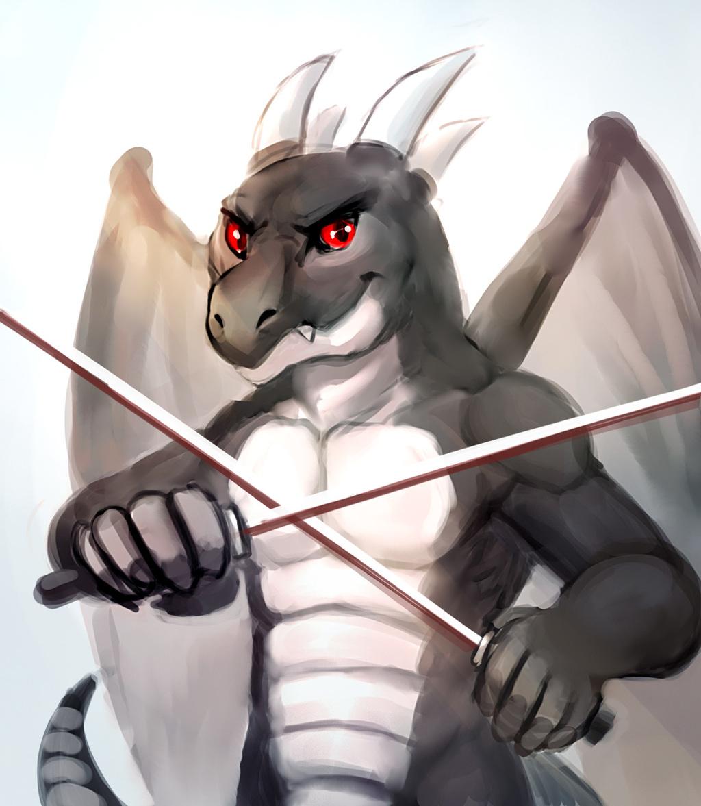 Nightdragon: Crossed Swords by Cheetahpaws