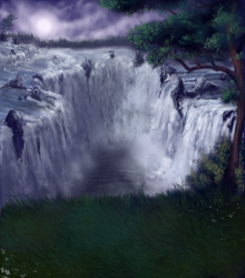 Pet Sim Background - Waterfall