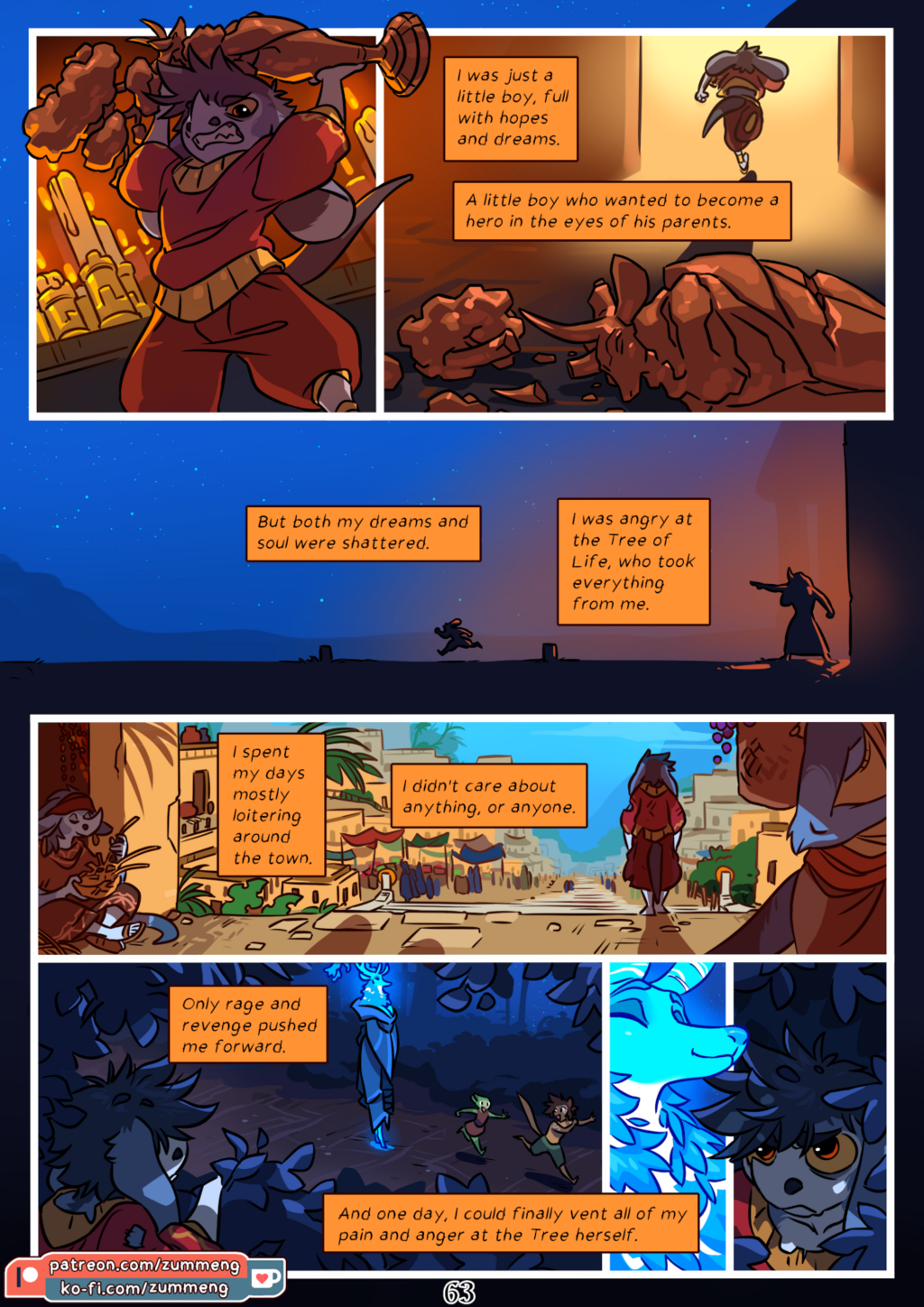 Most recent image: Tree of Life - Book 0 pg. 63.
