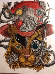 Color Study - Steam Punk Kitty