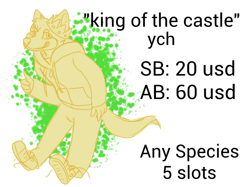 Most recent image: King of the castle YCH