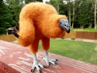 Black Vulture Chick Art Doll