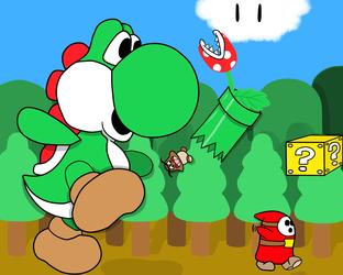 Super Mega Yoshi's Path of Destruction