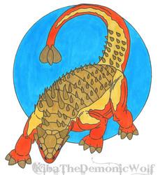 Neon Dinosaur 4 - Ankylosaurus