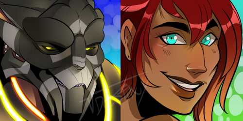 Turian/Human Icons (COMMISSION)