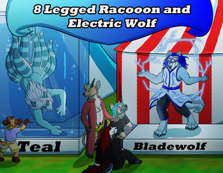[C] 8 Legged Racooon and And Electric Wolf