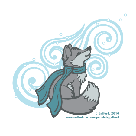 Swirling Snow Fox