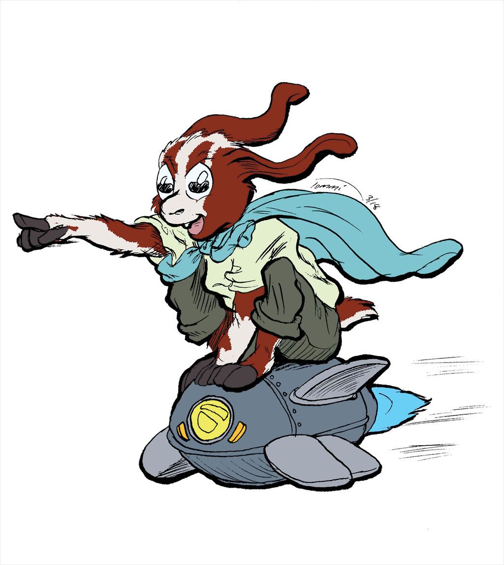 FWA Galaxy Gunslinger Standee - Goat Kid