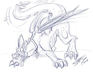 Toony Vector Dragon