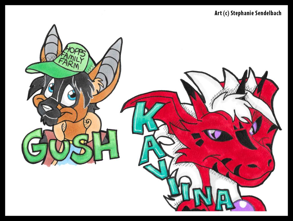 Gush and Kaviina Badges