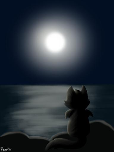 Gazing At Twilight's Moon