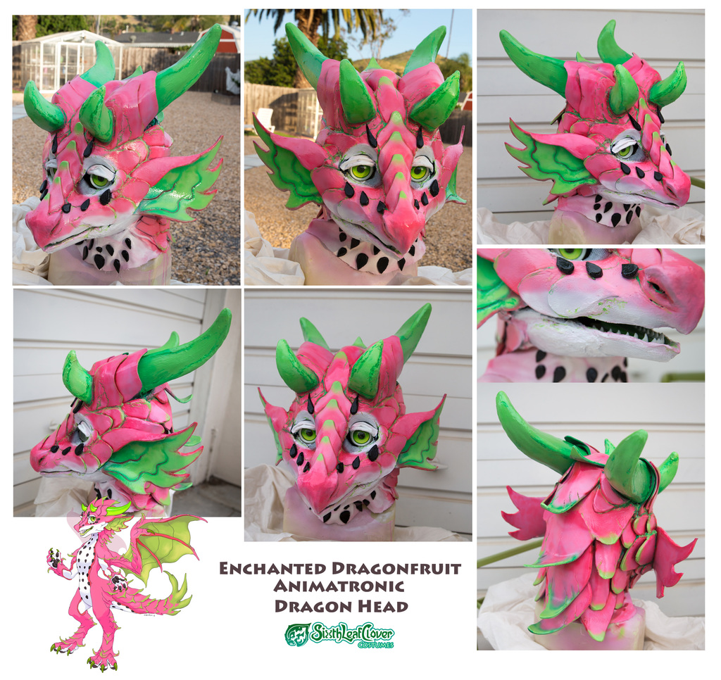 Dragonfruit Prototype Animatronic Costume Head - Up for bids
