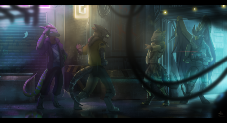 City Checkpoint (Commission by AlaiCinereo)