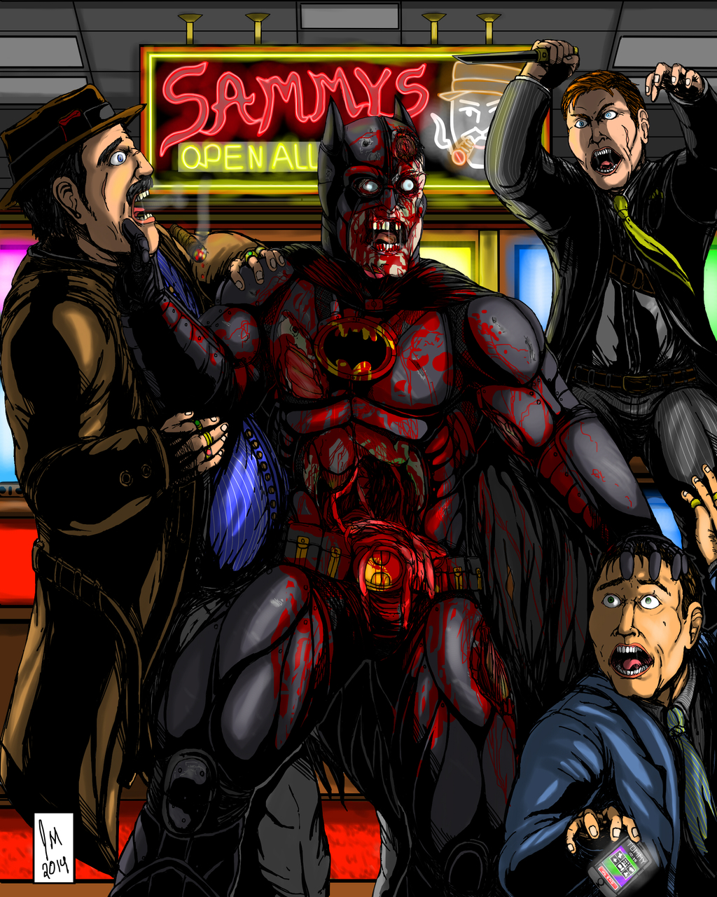 Most recent image: Older works zombie batman 2