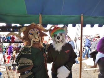 Dreamfinder and aisu at the Medieval Faire