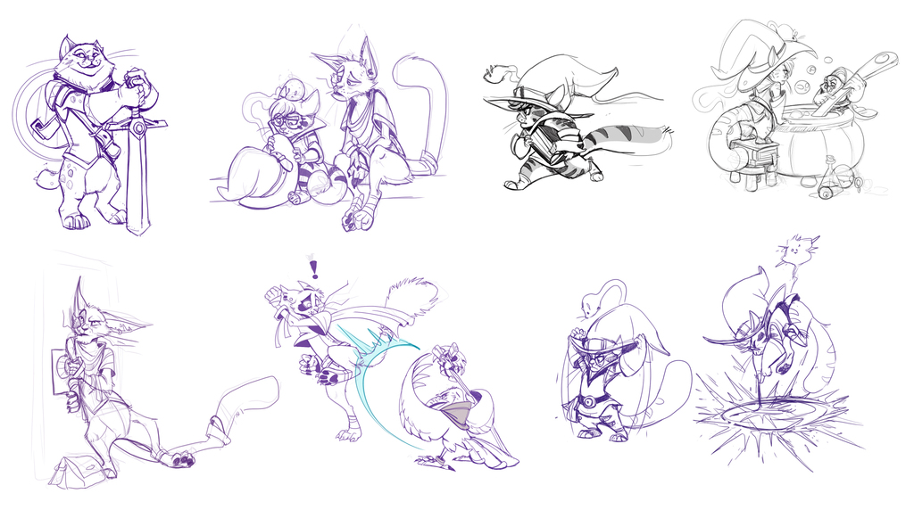Most recent image: Cat Heroes Sketches