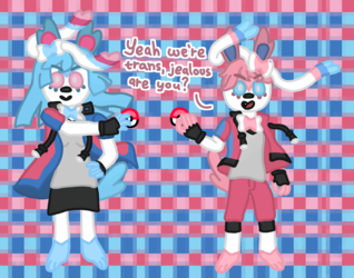 TRANS SYLVEON AND TRANS SYLVEON WANT TO BATTLE