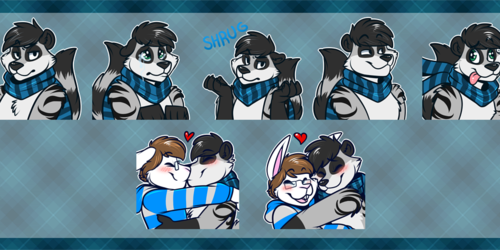 [commission] Telegram Stickers: Yikole