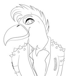 Cool Bird Lineart