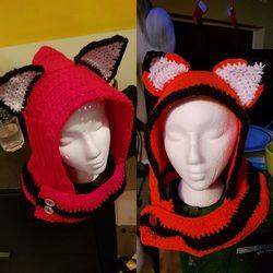 Red fox hood