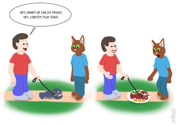 Bob's pet lobster