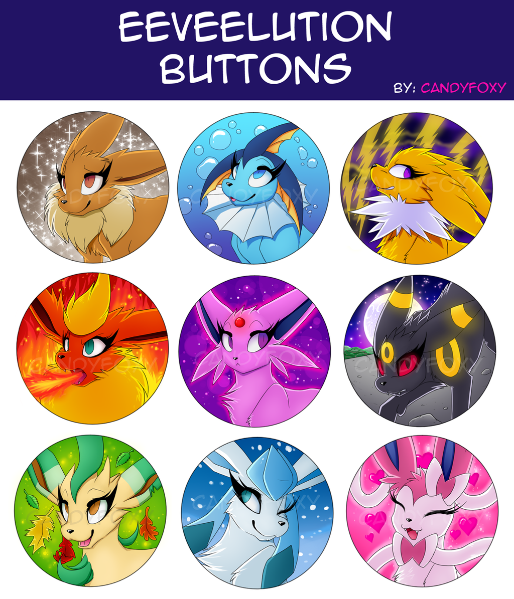Eeveelution Button Set