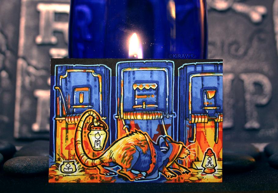 Drawtober: Day 20 - Candlelit Gravekeeper