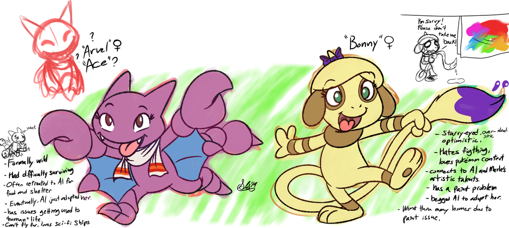 Arvel the Gligar and Bonny the Smeargle
