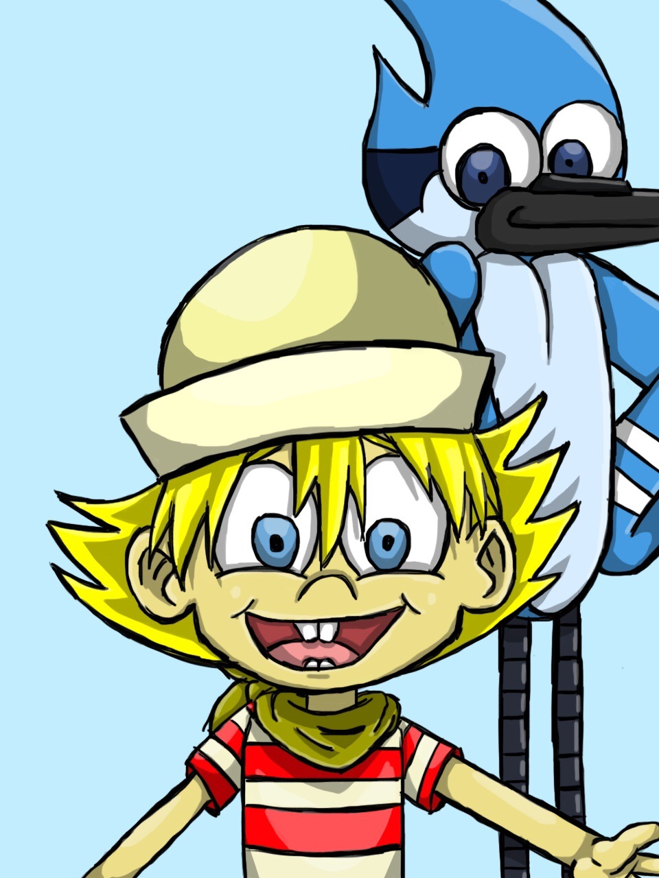 FlapJack and Mordecai fanart