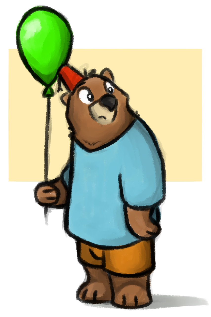 bear on a walk
