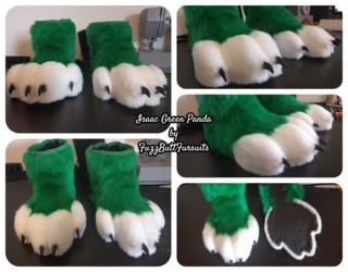 Isaac the Green Panda: Feetpaws