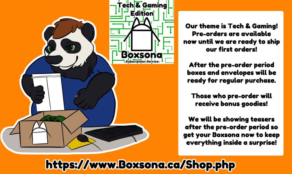 Boxsona Tech and Gaming Pre-Orders!