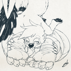 Inktober '17 - Stormy's Paws