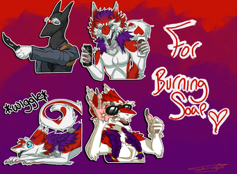 BurningSoap Stickers