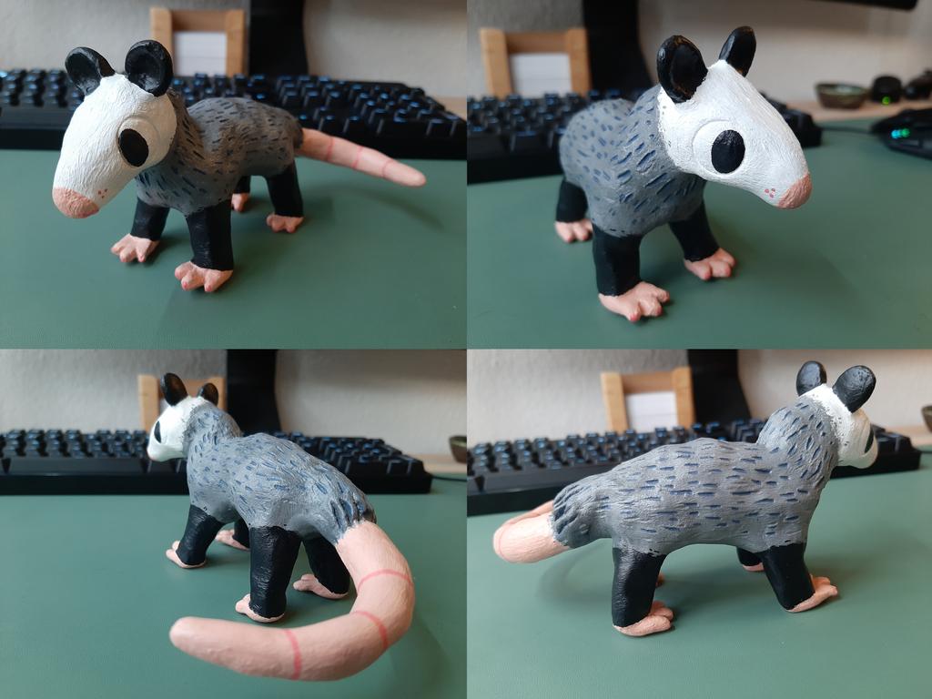 Most recent image: Claypossum!