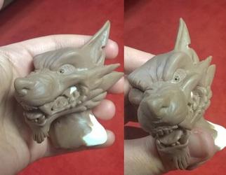 Werewolf Head concept sculpt