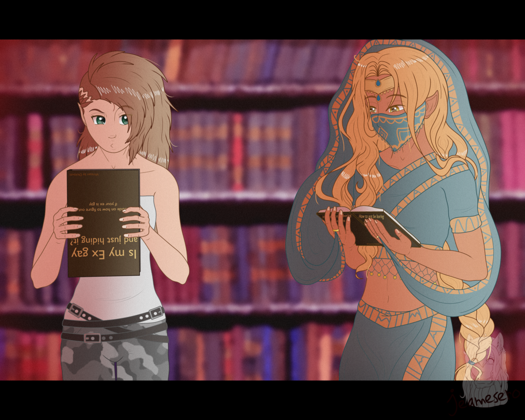 Library visit - [Commission]
