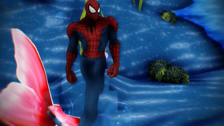 Spiderman the merman mmd