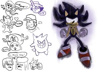 Mugi Draws Dark Super Sonic