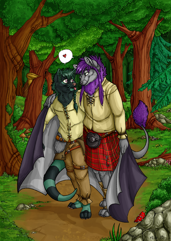 COMMISSION + A walk through the forest