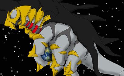 Giant Giratina on world