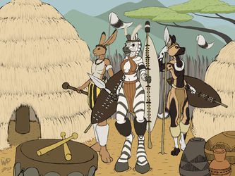 Warriors of the Zulu tribe